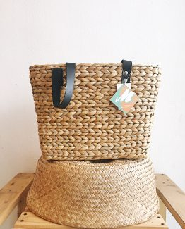 Natural | Tengkujuh Tote | Cow Leather Handles